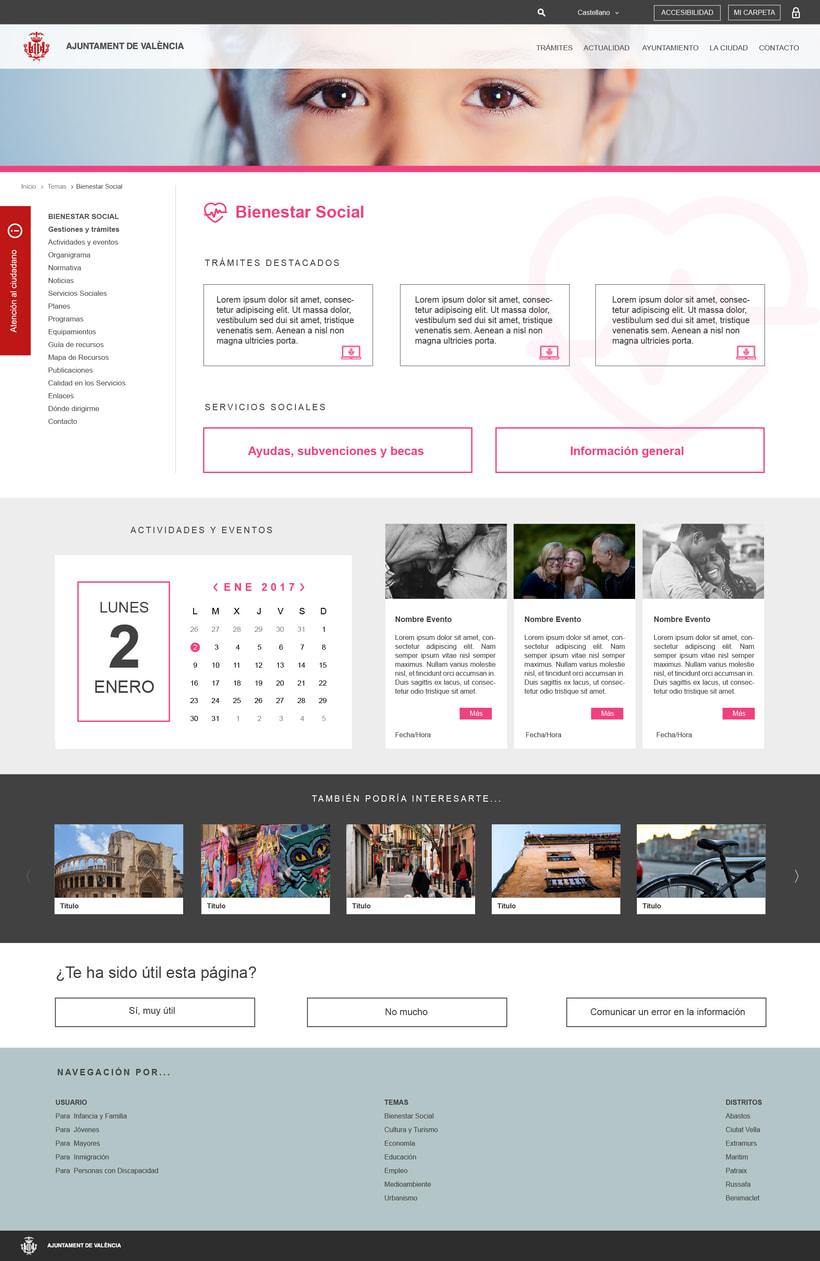 Ayuntamiento de Valencia - Propuesta nueva web (UI Design) 4