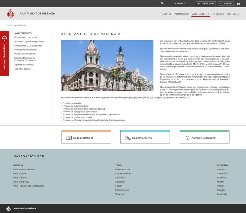 Ayuntamiento de Valencia - Propuesta nueva web (UI Design) 3