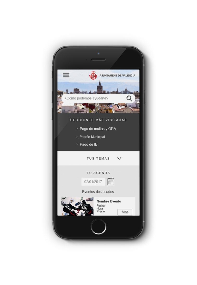 Ayuntamiento de Valencia - Propuesta nueva web (UI Design) 5