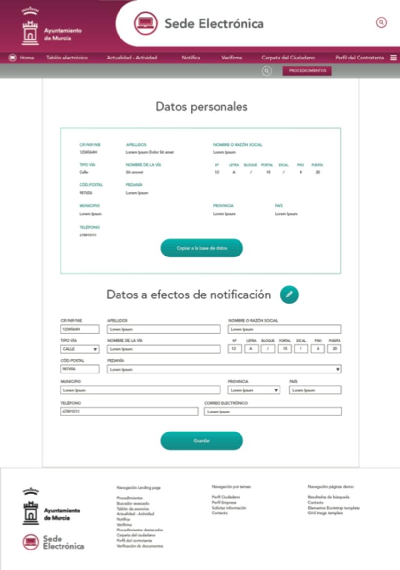 Sede Electrónica de Murcia - UI Design 3