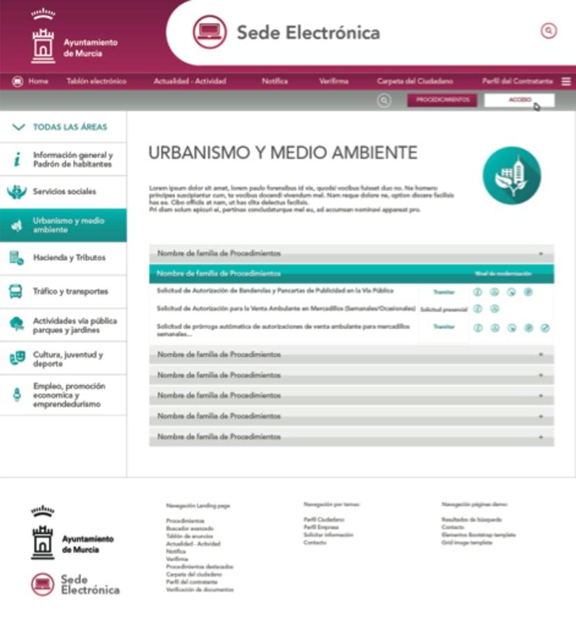 Sede Electrónica de Murcia - UI Design 2