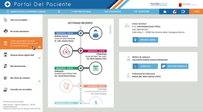 Portal del Paciente de Murcia - Rediseño web (UX/UI Design) 3