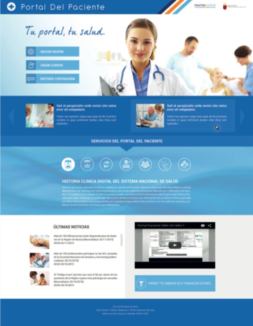 Portal del Paciente de Murcia - Rediseño web (UX/UI Design) 1
