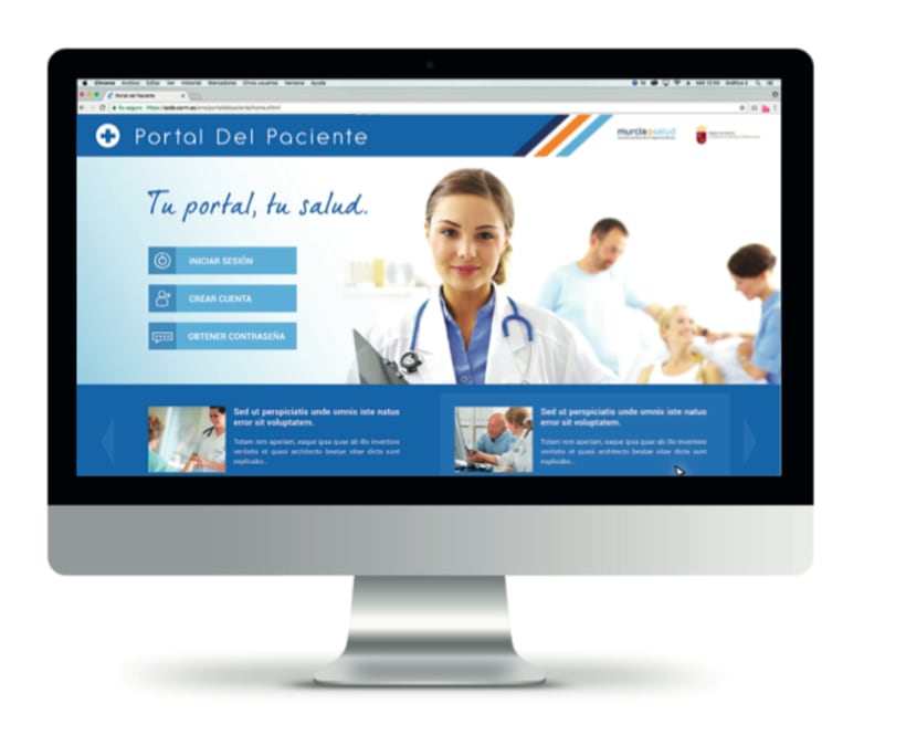 Portal del Paciente de Murcia - Rediseño web (UX/UI Design) 0