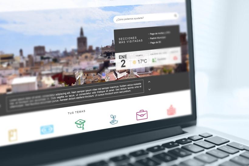 Ayuntamiento de Valencia - Propuesta nueva web (UI Design) 0