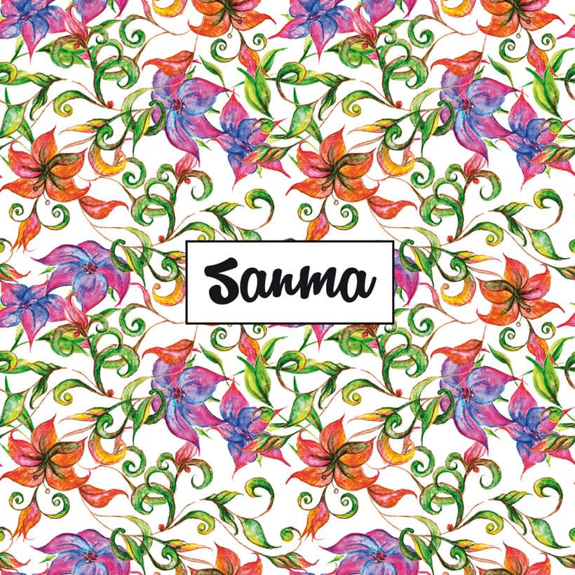 Diseño de estampados florales 4