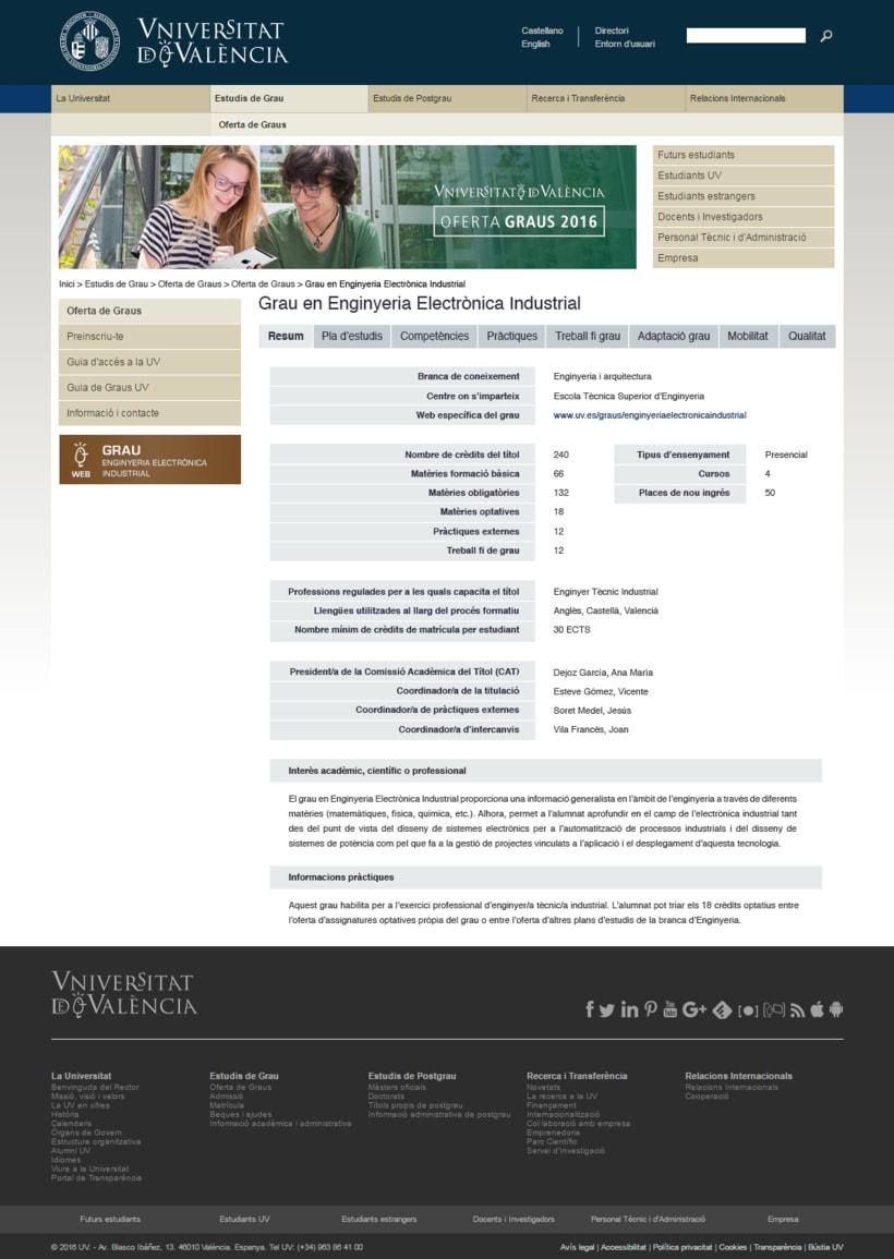 Re-diseño Web UV 1
