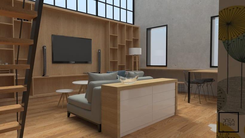 Diseño 3D de un Loft 0