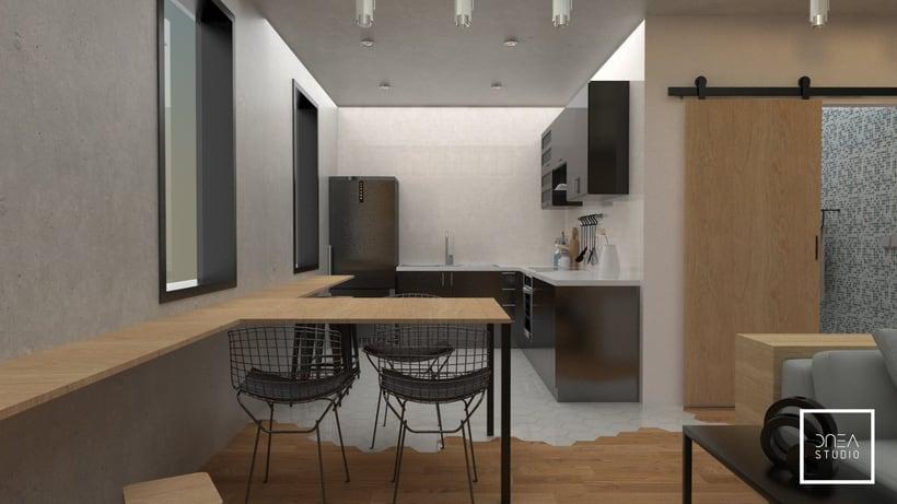 Diseño 3D de un Loft 2