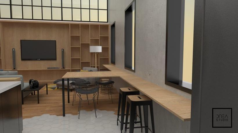 Diseño 3D de un Loft 3
