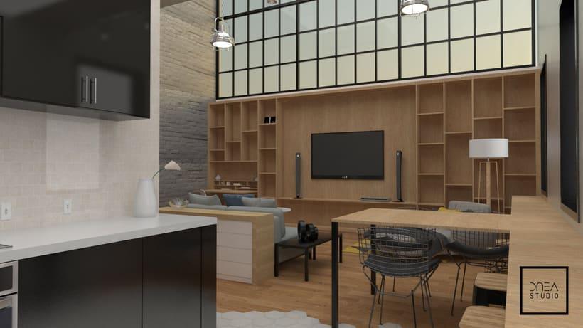 Diseño 3D de un Loft 4