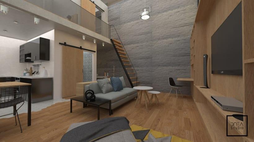 Diseño 3D de un Loft 5