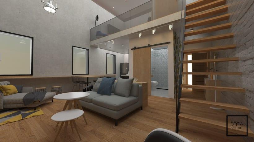 Diseño 3D de un Loft 6