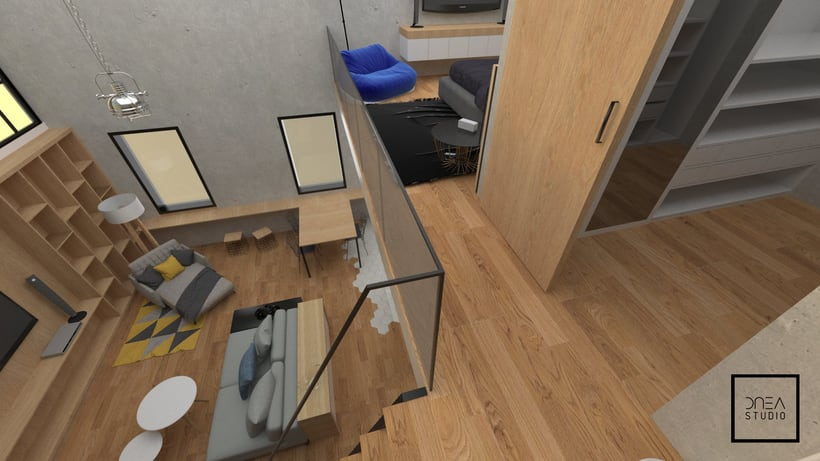 Diseño 3D de un Loft 7