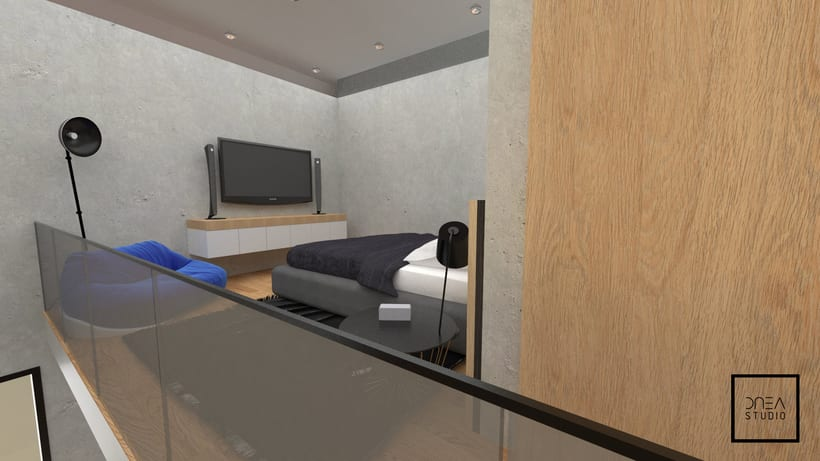 Diseño 3D de un Loft 8