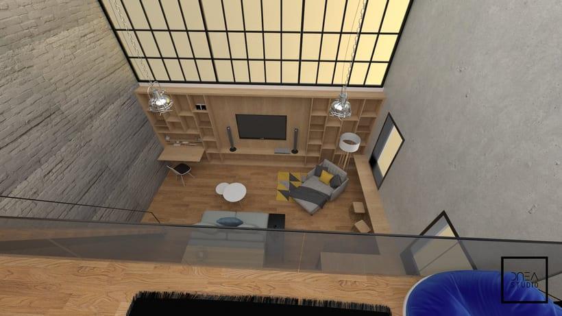 Diseño 3D de un Loft 9