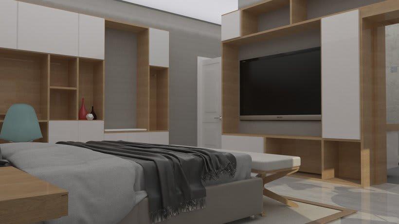 Diseño 3D habitación hotel 4