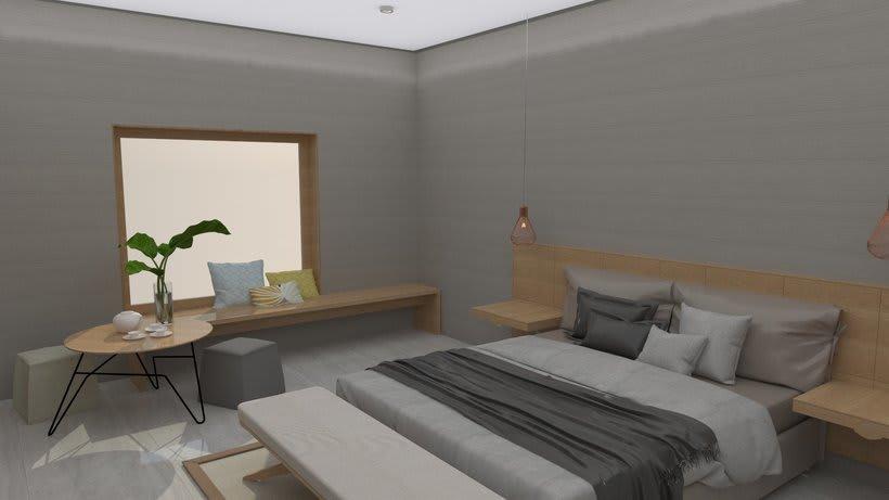Diseño 3D habitación hotel 5