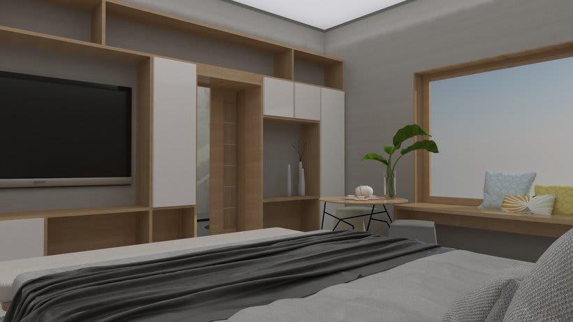 Diseño 3D habitación hotel 6