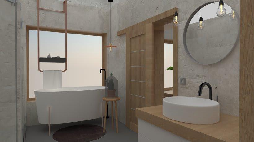 Diseño 3D habitación hotel 7