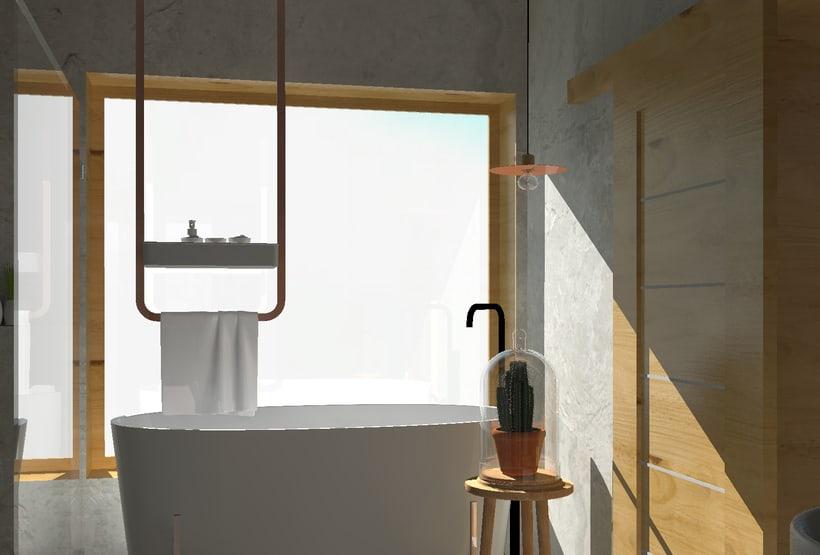Diseño 3D habitación hotel 8
