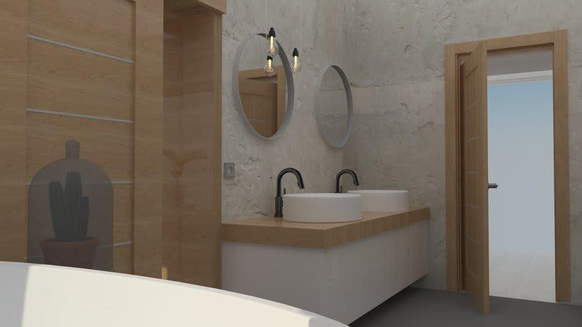 Diseño 3D habitación hotel 9