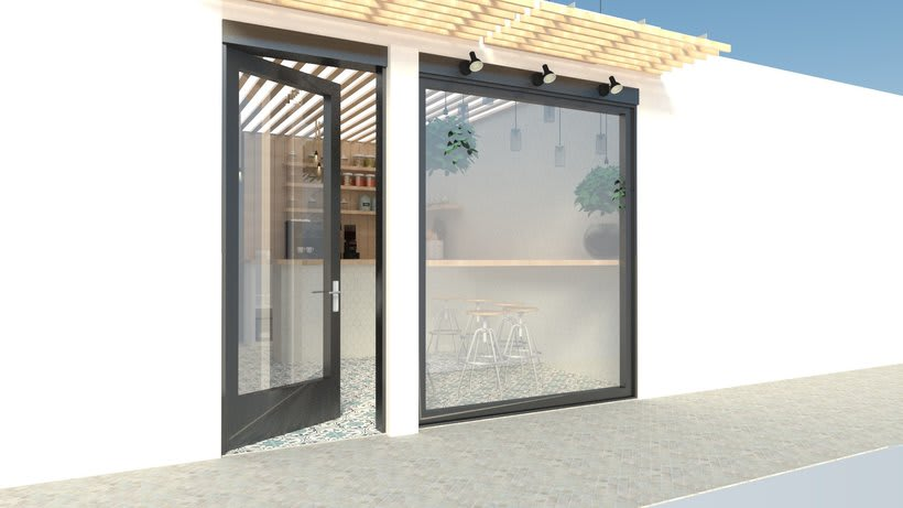 Coffee shop visualizacion 3D -1