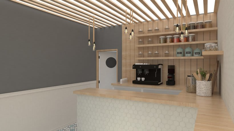 Coffee shop visualizacion 3D 2