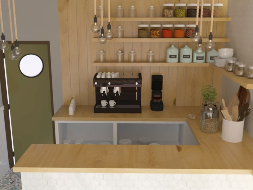 Coffee shop visualizacion 3D 4