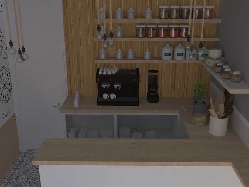 Coffee shop visualizacion 3D 6