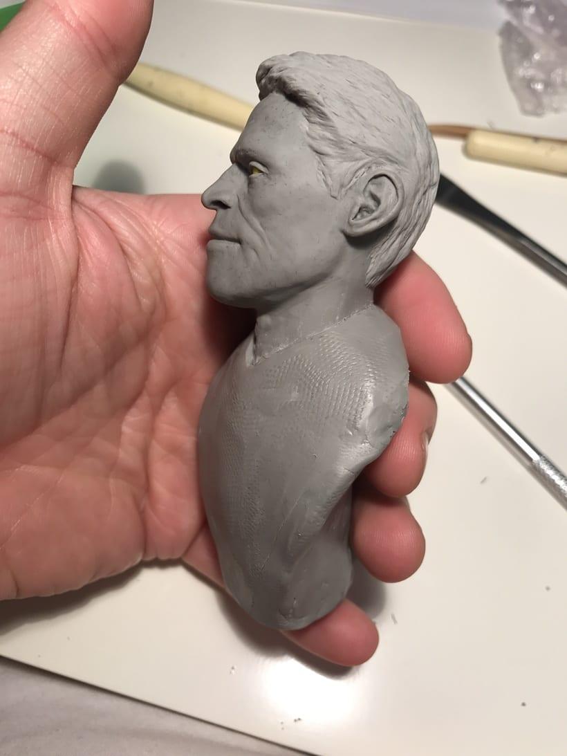 Busto miniatura 1/6 de Willem Dafoe 10