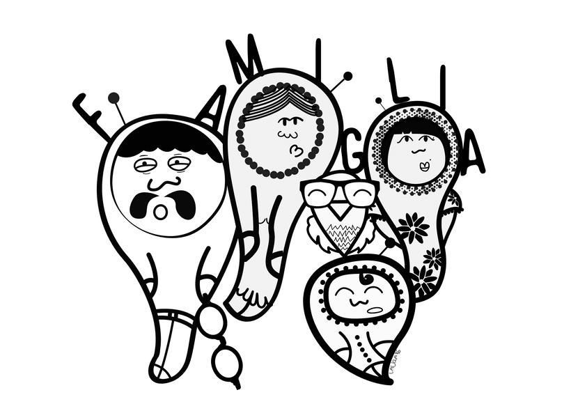 """""""Famiglia"""" - Ilustración vectorial.  -1"""