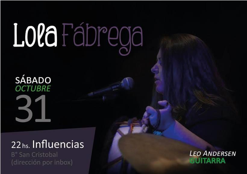 Lola Fábrega Cantante 2
