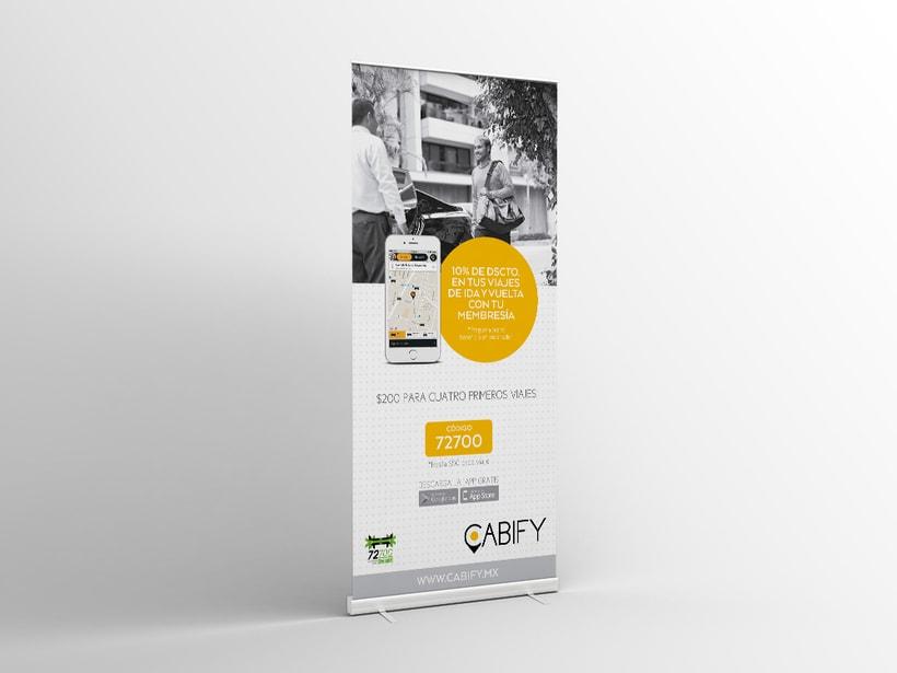 Cabify: Piezas impresas(Old brand) 2