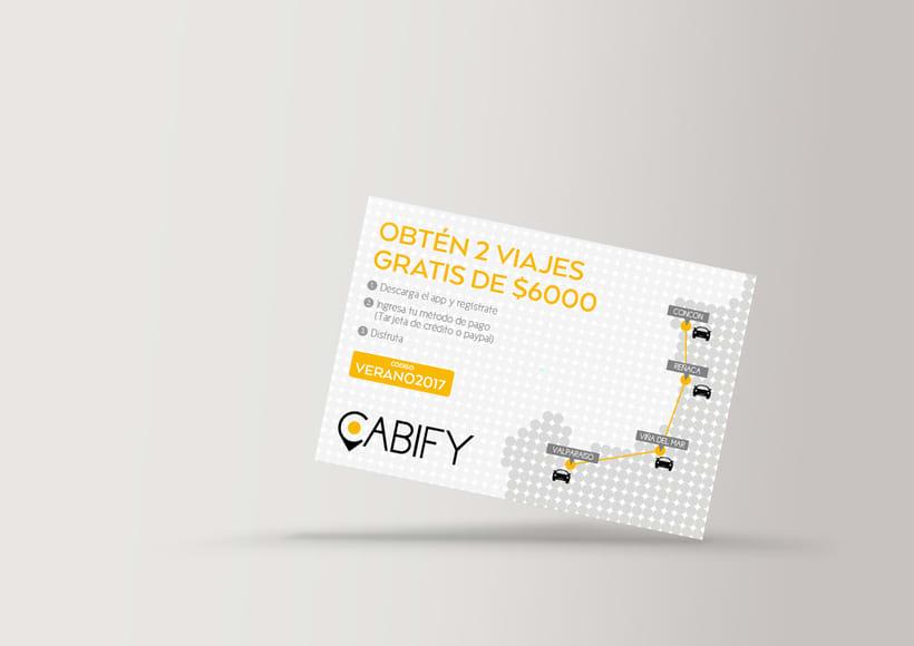 Cabify: Piezas impresas(Old brand) 1