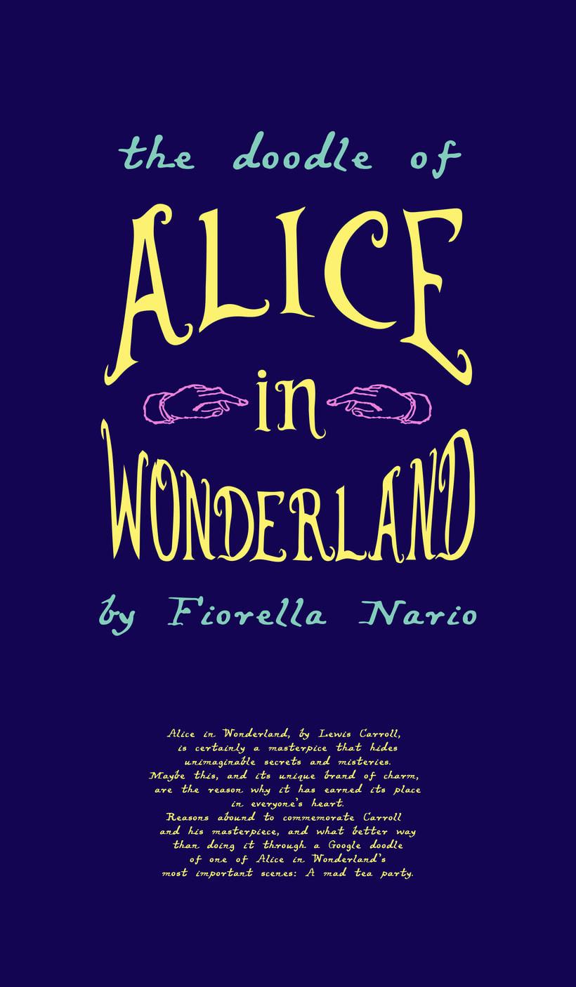 Alicia en el País de las Maravillas, doodle 0