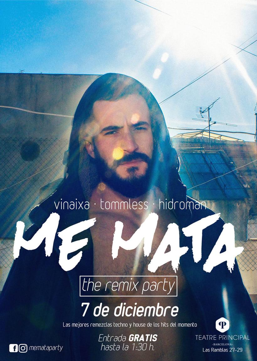 Poster Me Mata Party (fotografía original y diseño) -1
