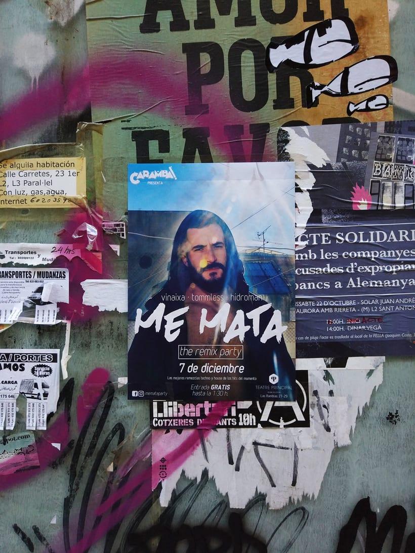 Poster Me Mata Party (fotografía original y diseño) 0