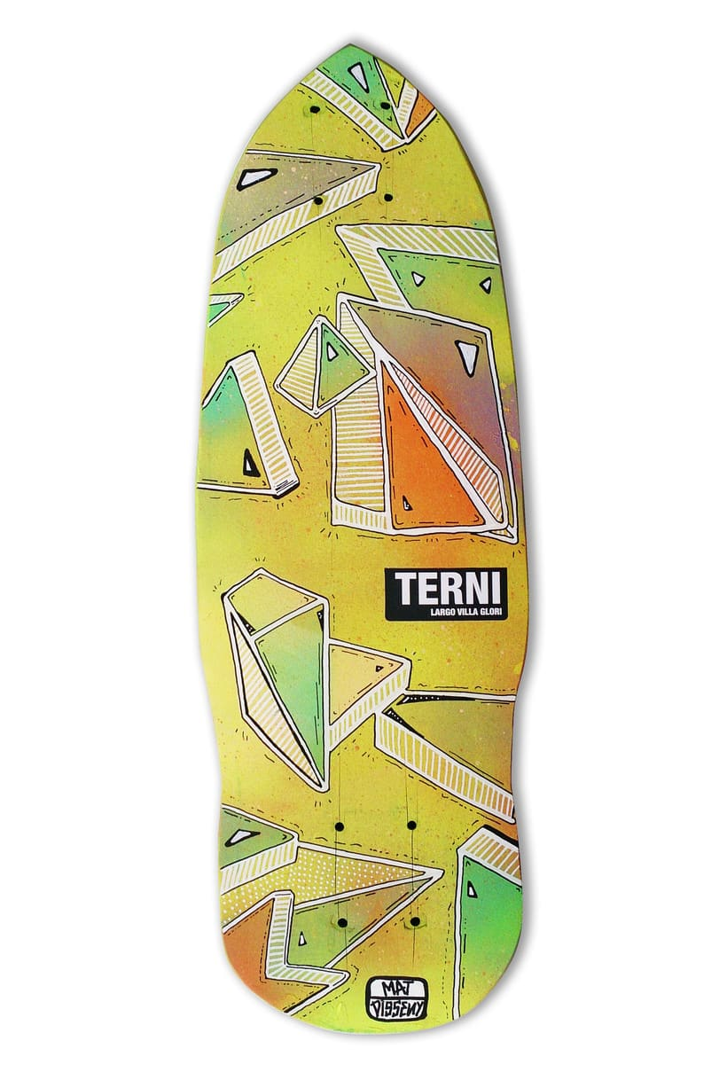 Skateboard • Terni Tribute (caos museum) #SkateArt -1