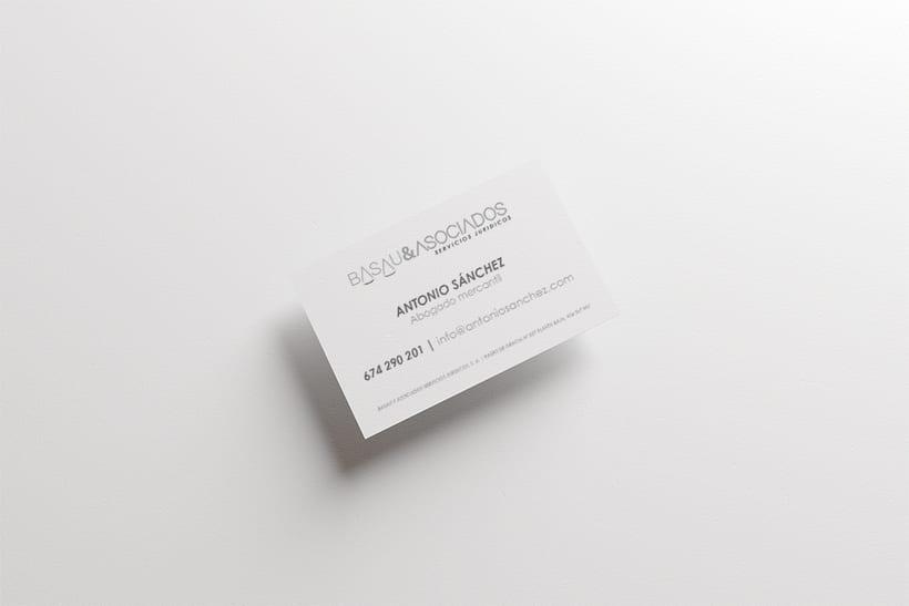 Logotipo y papelería para Basau & Asociados  1