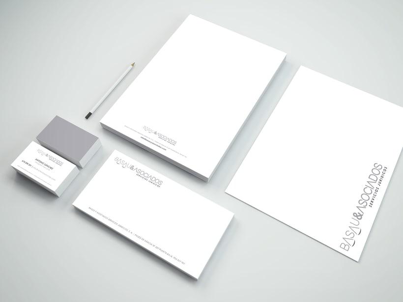 Logotipo y papelería para Basau & Asociados  2