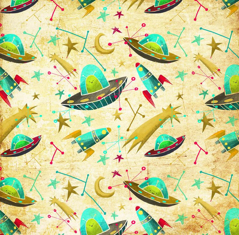 Diseño de pattern ilustrado. 3
