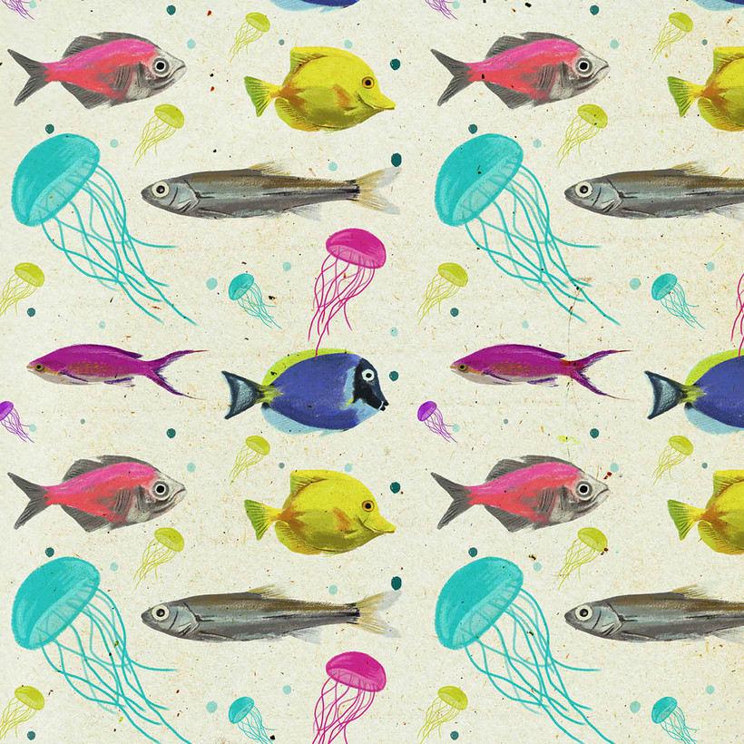 Diseño de pattern ilustrado. 4