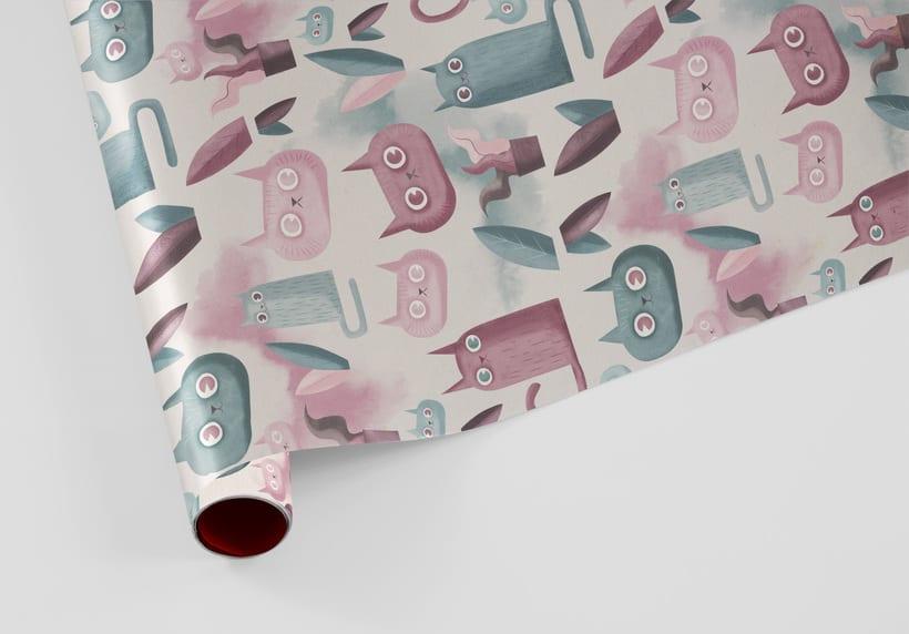 Diseño de pattern ilustrado. 2