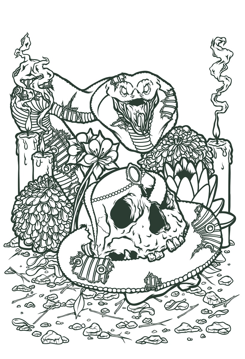 Cobra & Skull 1