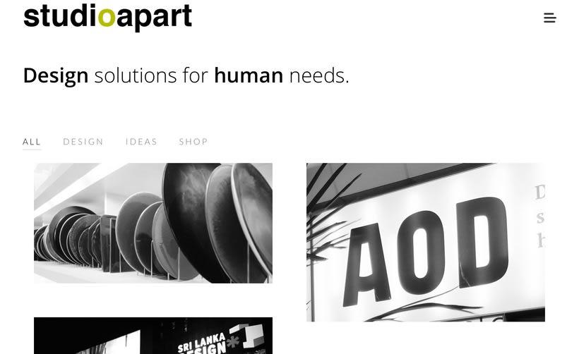 Diseño web de Portfolio de proyectos de Diseño de Interiores y Productos -1