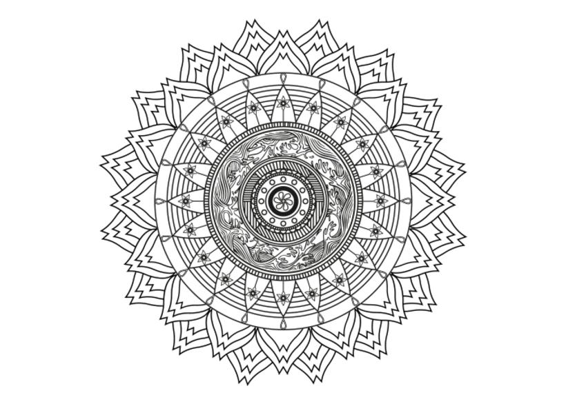 Ilustración Mandala 0