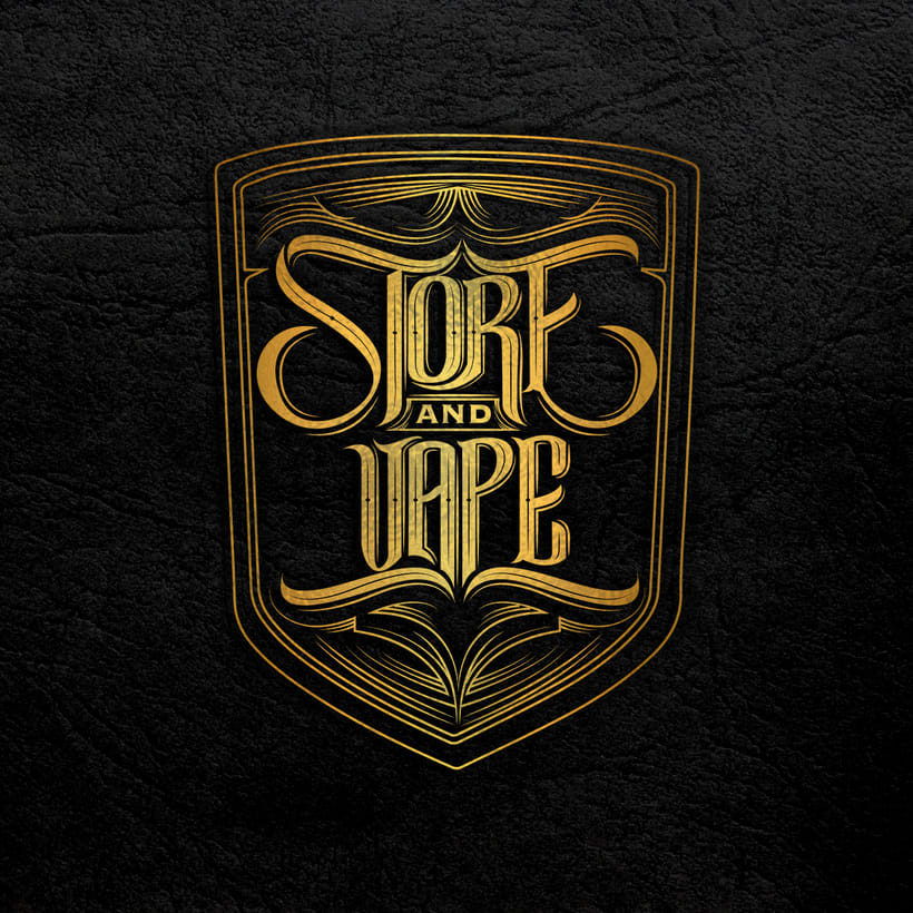 "Logo lettering ""Store and vape"" 0"