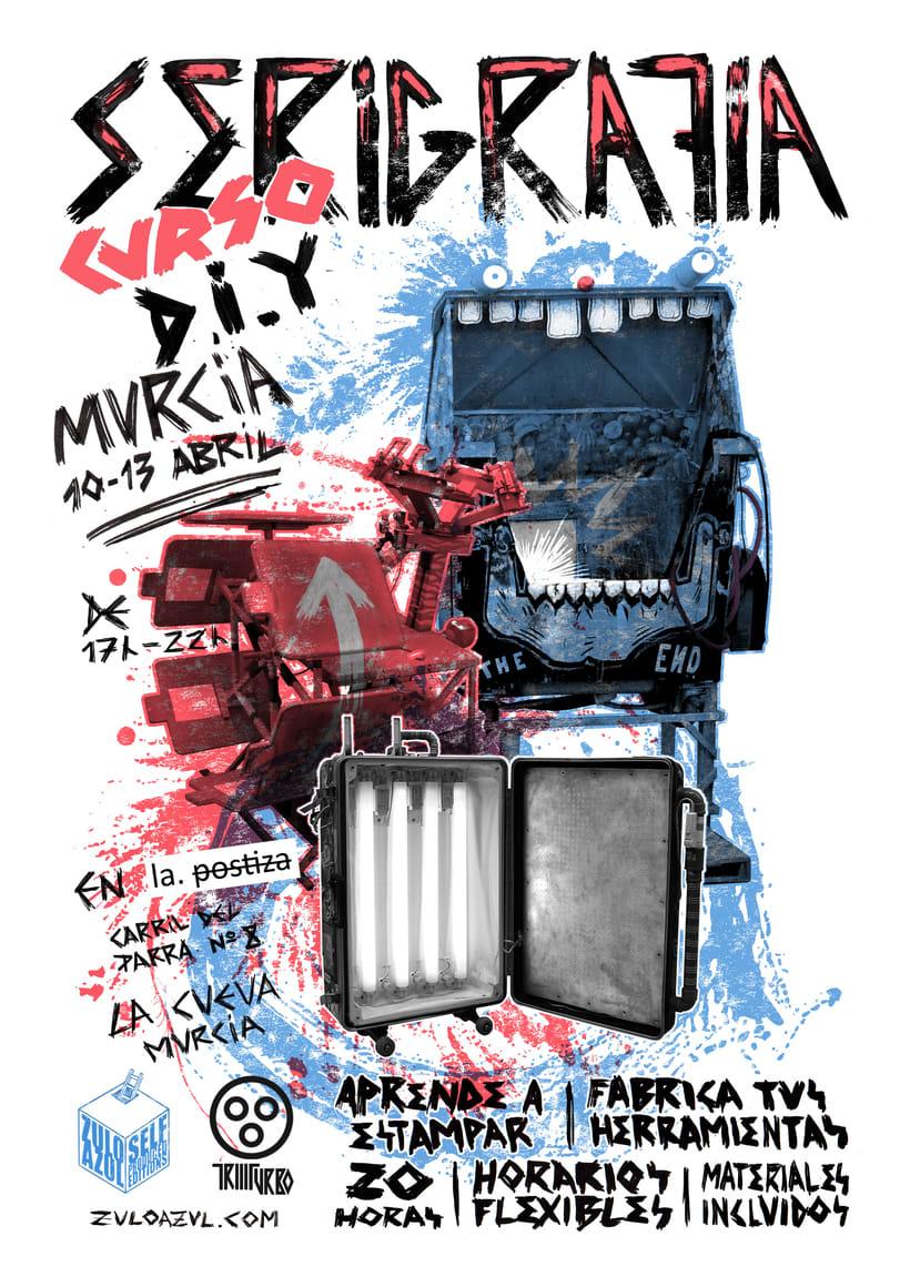 Curso de serigrafia DIY 10-13 Abril en  Murcia. Resto del mes en Madrid  1