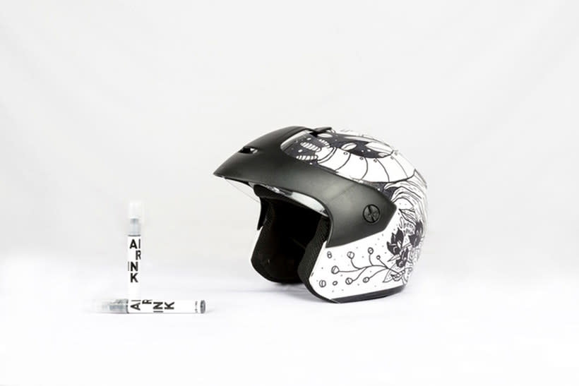 Air-ink: una tinta hecha con aire contaminado 8